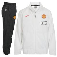 09-10 Man Utd Woven Tracksuit (White)