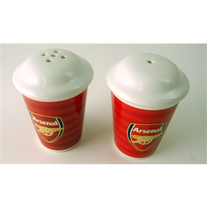 Arsenal fc salt pepper pots uksoccershop Salt n pepper pots