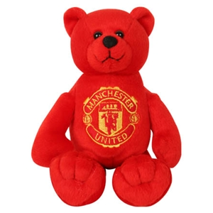 Manchester United FC Red & Black Beanie Bear