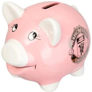 Manchester United FC Pink Piggy Bank