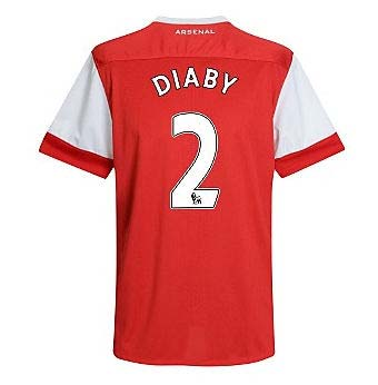2010-11 Arsenal Nike Short Sleeve Home Shirt (Diaby 2)