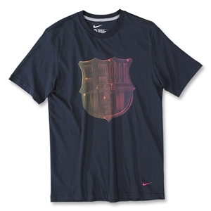 2010-11 Barcelona Nike Core Cotton Tee (Navy)