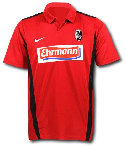 2010-11 SC Freiburg Nike Home Football Shirt