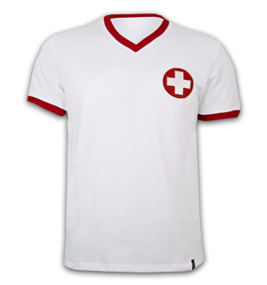 Switzerland Away 1970's Short Sleeve Retro Shirt 100% cotton