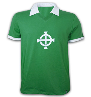 Northern Ireland 1977 Short Sleeve Retro Shirt 100% cotton
