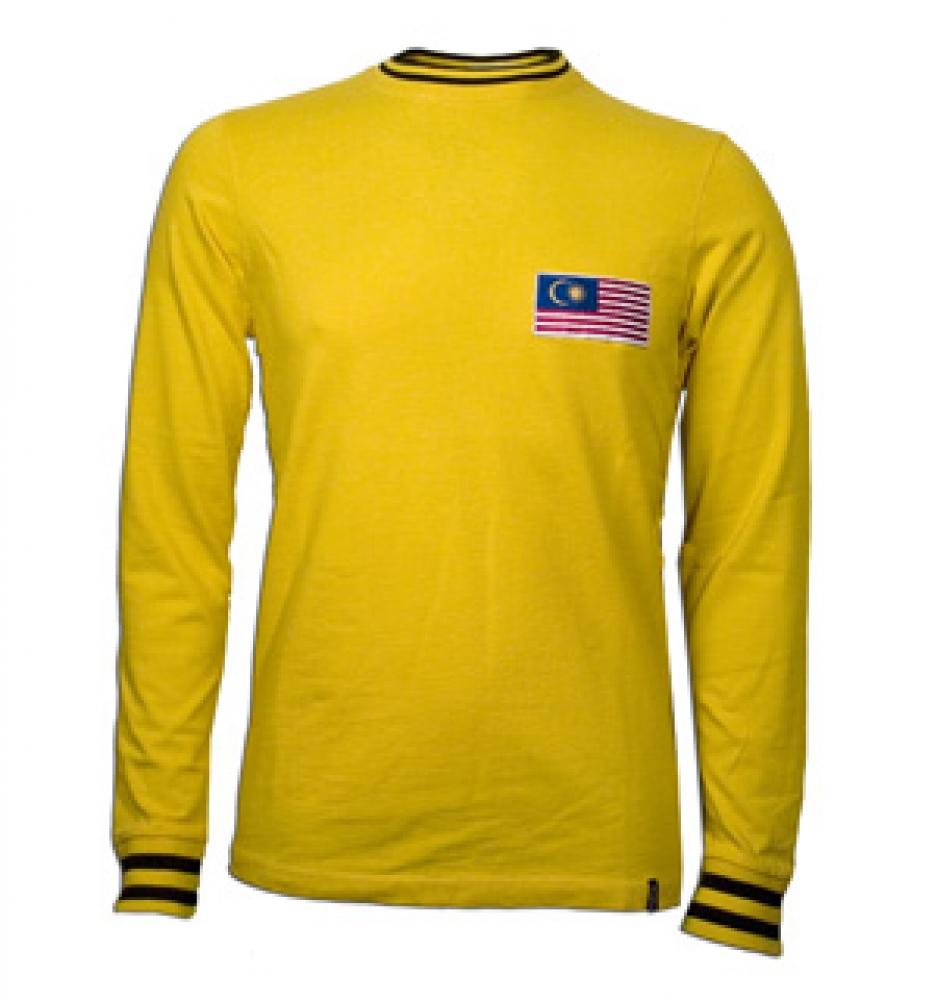 Malaysia 1972 Long Sleeve Retro Shirt 100 Cotton 578