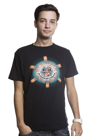 Dios Azteca T-Shirt // Black 100% cotton
