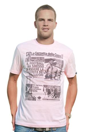 Gazzetta della COPA T-Shirt // Pink 100% cotton