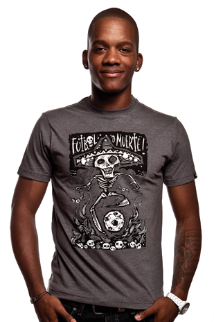 Futbol o Muerte T-Shirt // Dark Grey Mêlée 100% cotton
