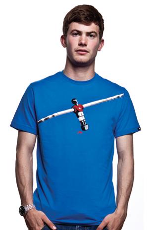 Foosball T-Shirt // Blue 100% cotton