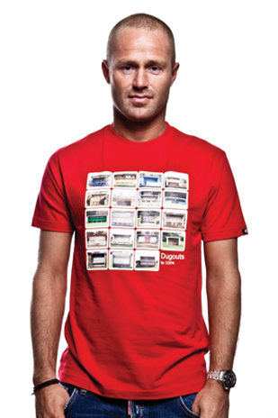 Dugouts T-Shirt // Red 100% cotton