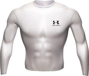 Cold Gear LS Crew II Shirt White