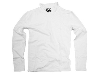 Base Layer Cold Mock Turtleneck LS T-shirt White Kids