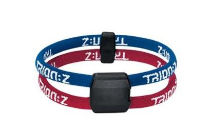 Dual Loop Lite Ionic/Magnetic Bracelet Blue/Red