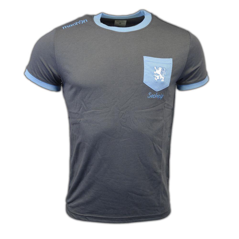 2016-2017 Munich 1860 Macron Cotton T-Shirt (Navy)