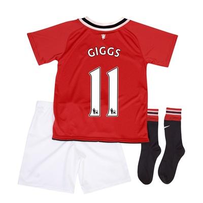 2011-12 Man Utd Nike Little Boys Home (Giggs 11)