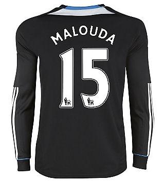 2011-12 Chelsea L/S Away Shirt (Malouda 15)