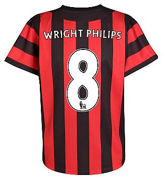 2011-12 Manchester City Umbro Away Shirt (Wright-Phillips 8)