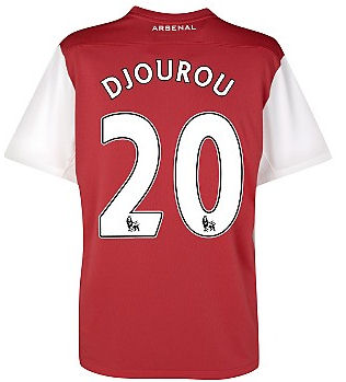 2011-12 Arsenal Nike Home Shirt (Djourou 20)