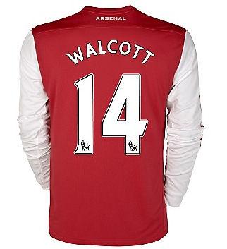 2011-12 Arsenal Nike L/S Home Shirt (Walcott 14)