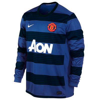 2011-12 Man Utd Away Long Sleeve Nike Football Shirt