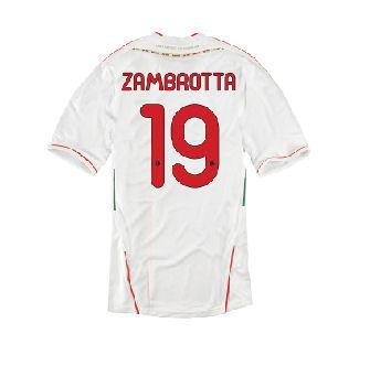 2011-12 AC Milan Away Shirt (Zambrotta 19)