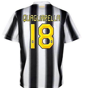 2011-12 Juventus Nike Home Shirt (Quagliarella 18)