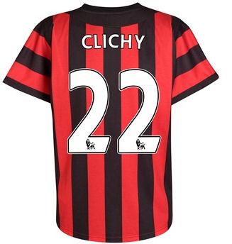 2011-12 Manchester City Umbro Away Shirt (Clichy 22)