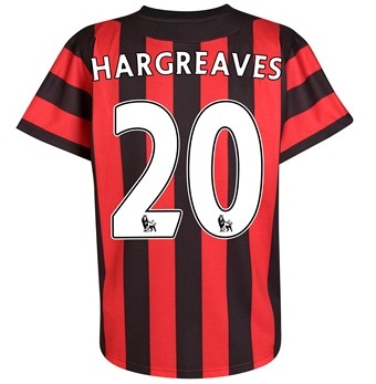 2011-12 Manchester City Umbro Away Shirt (Hargreaves 20)