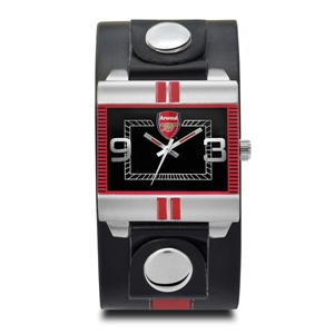 Arsenal Leather Strap Fashion Watch