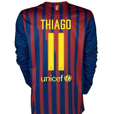 2011-12 Barcelona Nike L/S Home Shirt (Thiago 11)