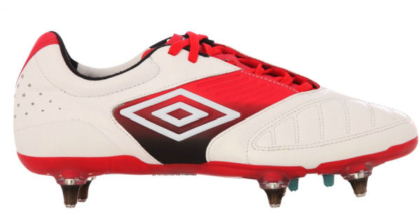 Umbro Geometra Pro-A SG Football Boots (White-Red)