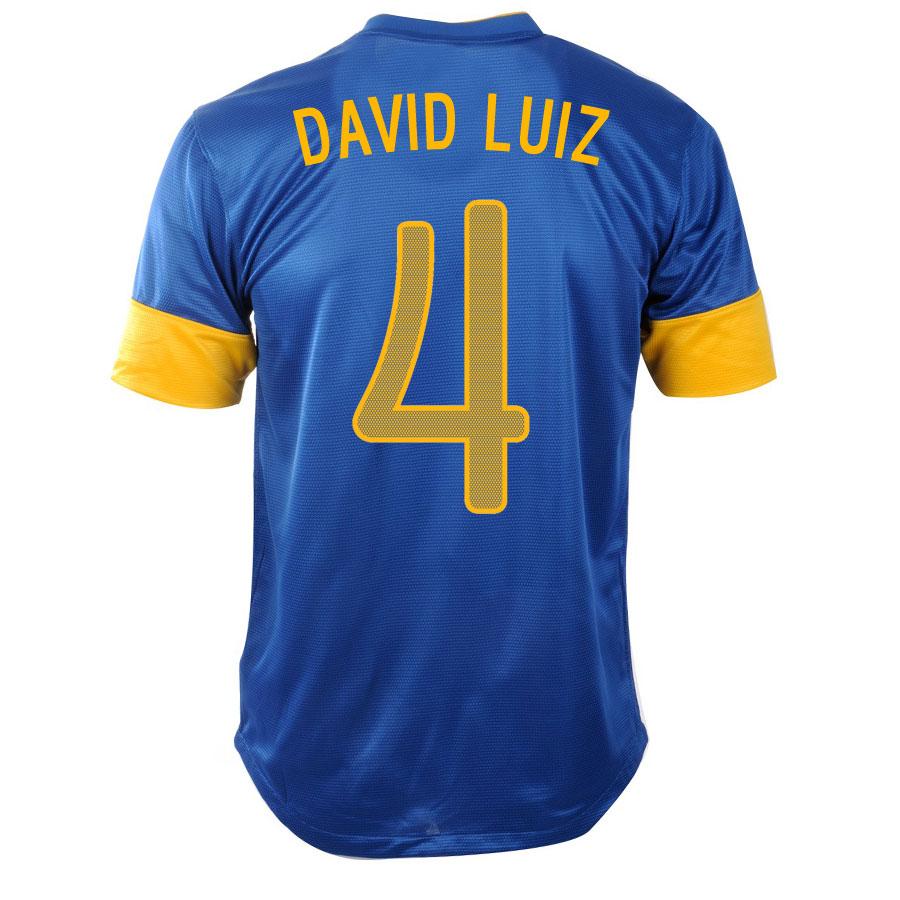 2012-13 Brazil Nike Away Shirt (David Luiz 4)