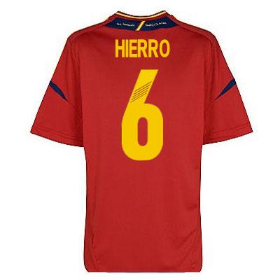 2012-13 Spain Euro 2012 Home Shirt (Hierro 6)
