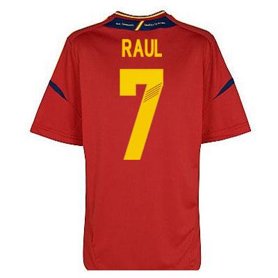 2012-13 Spain Euro 2012 Home Shirt (Raul 7) - Kids
