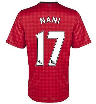 2012-13 Man Utd Nike Home Shirt (Nani 17)