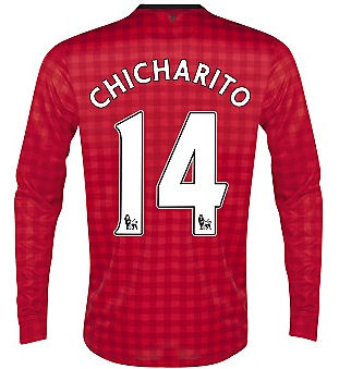 2012-13 Man Utd Nike Long Sleeve Home (Chicharito 14)