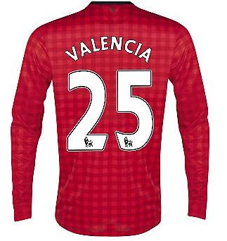 2012-13 Man Utd Nike Long Sleeve Home (Valencia 25) - Kids