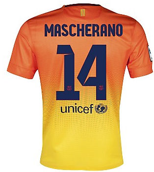 2012-13 Barcelona Nike Away Shirt (Mascherano 14)
