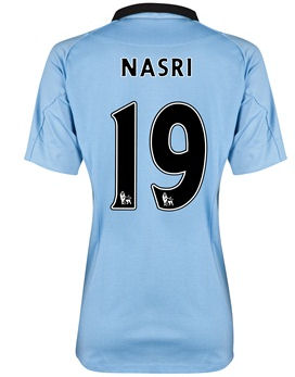 2012-13 Man City Womens Home Shirt (Nasri 19)
