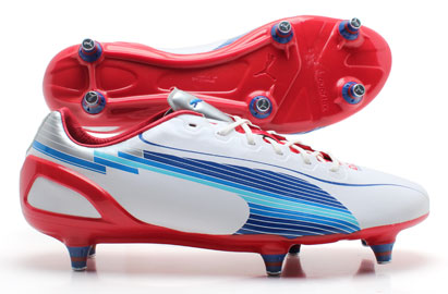Evospeed 1 SG Football Boots White/Limoges/Ribbon Red