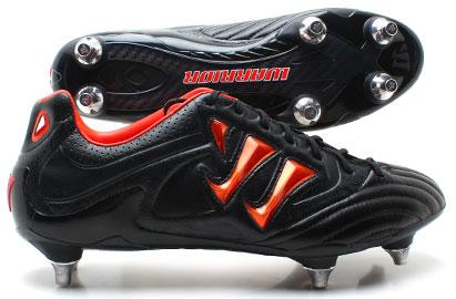 Skreamer Pro K Lite Soft Ground Football Boots Black/Spicy Orange