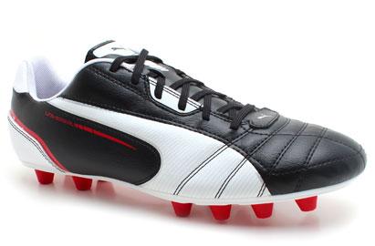Universal FG Football Boots Black/White/Ribbon Red