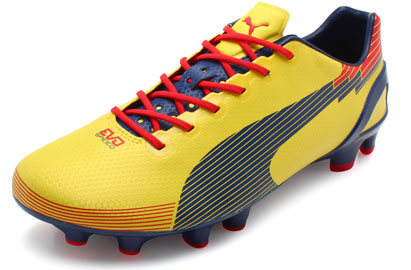 Evospeed 1 Graphic FG Football Boots Blazing Yellow/Medieval Blue/Flame Scarlet