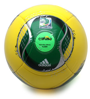 Confederations Cup Replica Glider Football Vivid Yellow/Vivid Green/Metallic Silver