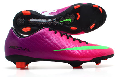 Mercurial Veloce FG Football Boots Fireberry Purple/Electric Green