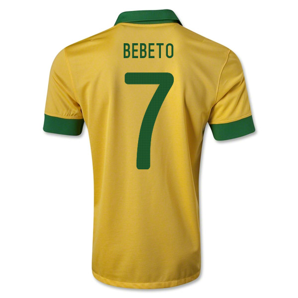 2013-14 Brazil Home Shirt (Bebeto 7)