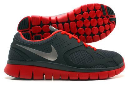 Nike Flex 2012 Running Shoes Anthracite/Metallic Grey/Red