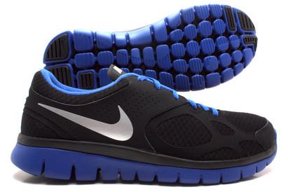 Nike Flex 2012 Running Shoes Black/Metallic Silver/Royal