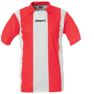 Uhlsport Retro Stripes SS Shirt (red-white)